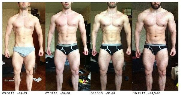 Три месяца тренировок: углеводы > белки.