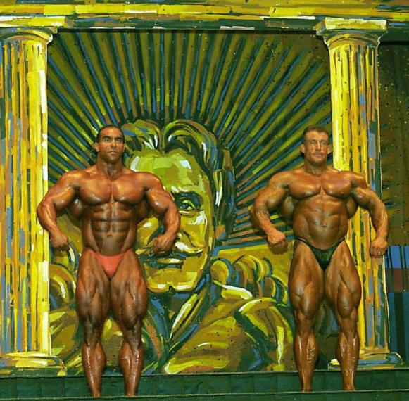 "Нассер Эль Сонбати, Дориан Ятс (конкурс ""Мистер Олимпия"", 1997)"